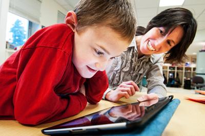 ELBS student using technology