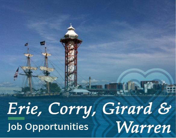 Job Opportunities - Erie Warren & Corry, PA