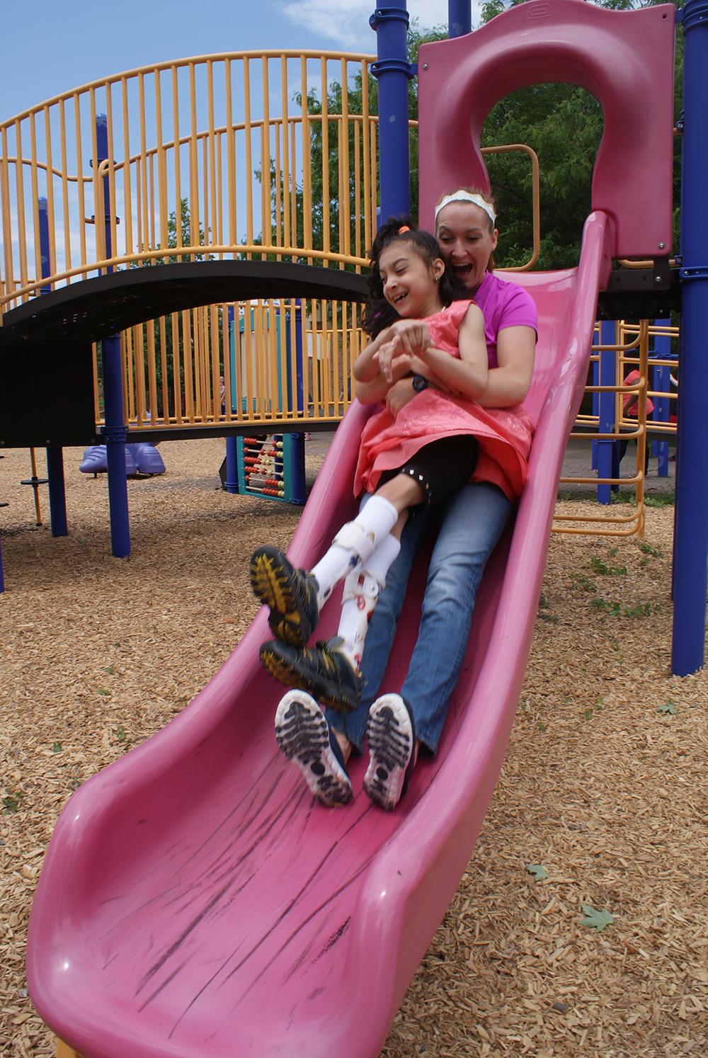 Enji enjoying the playground