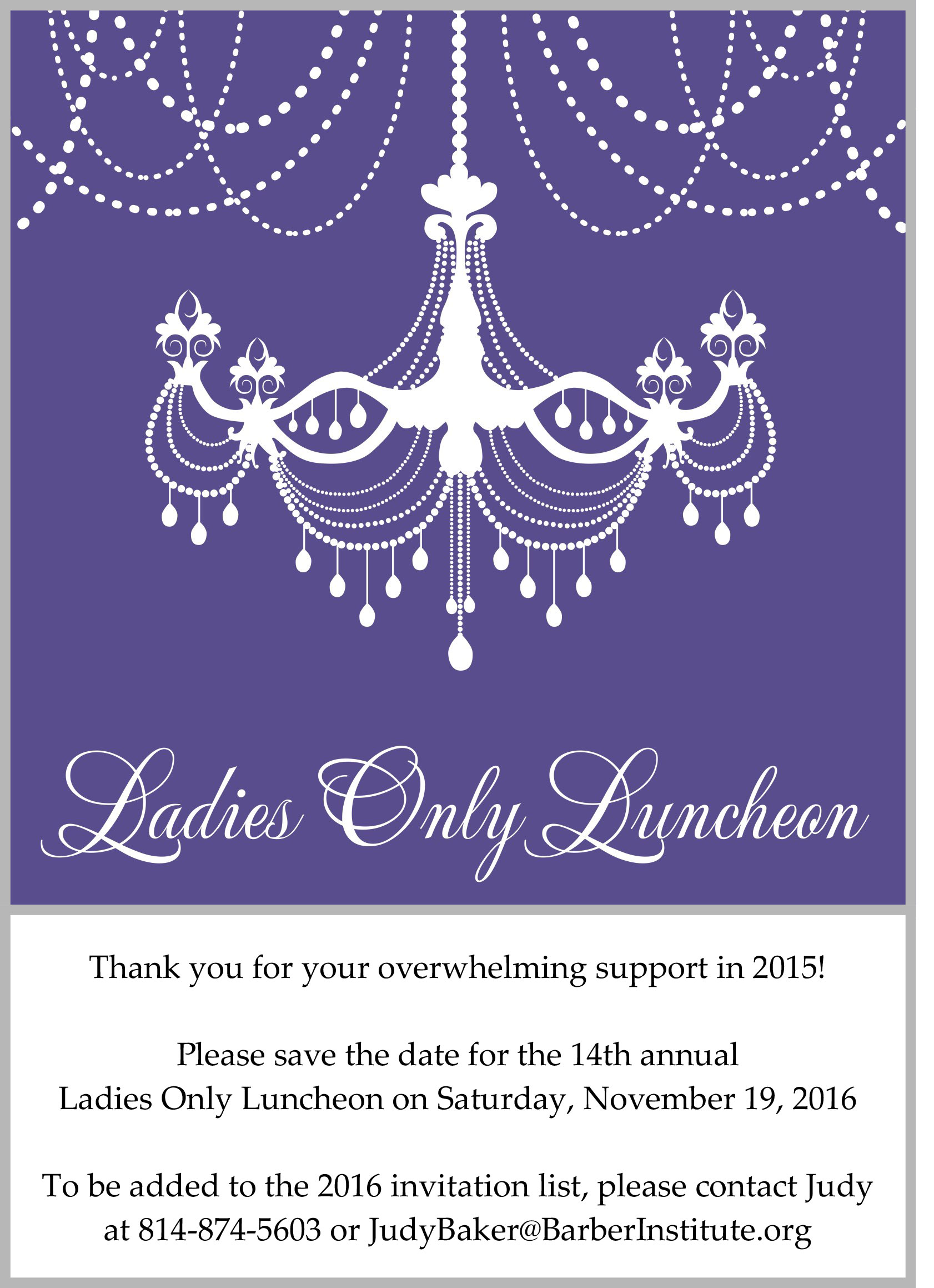 Ladies Only Luncheon