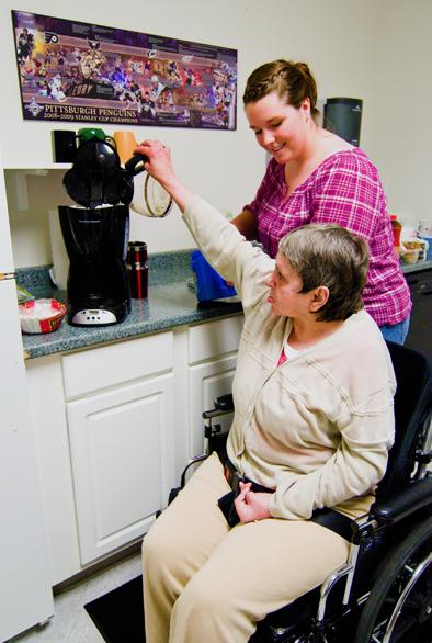 resident receiving assistance