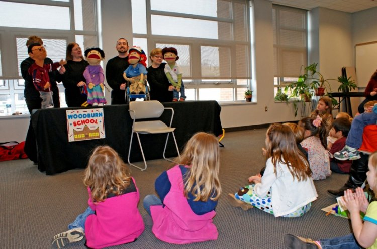 Children enjoyed a special performance by Kids on the Block, a troupe of puppets with and without disabilities who teaches others about differences in others.