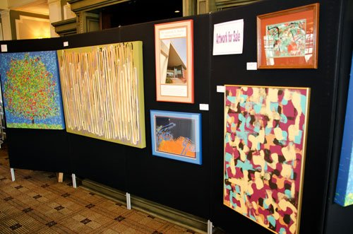 Artwork created by adults at the Barber National Institute