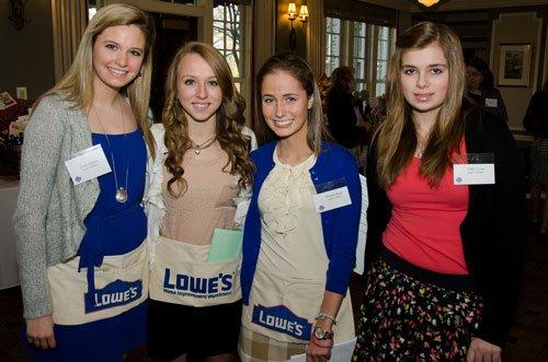 Student volunteers Carly Ackerly, Jordan Hunter, Victoria Mayer, Libby Lucas