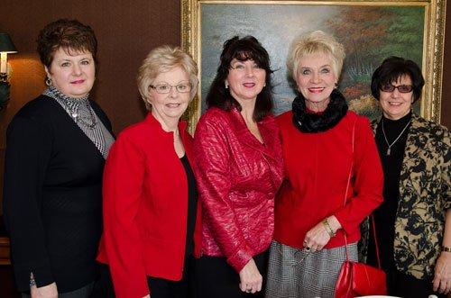 Connie Knecht, Cindy Hartman, Cynthia Patalita, Georgeann Antalek and Theresa Ignaczak