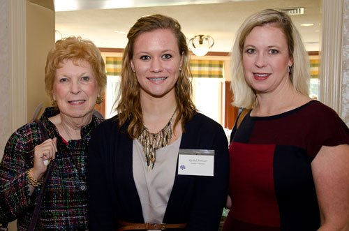Martha Jean Nygaard, student volunteer Rachel Pontzer with her mother, Jennifer Pontzer