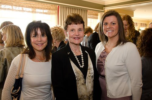 Mary Therese Riley, center, with her daughters  Mary Rutkowski, left, and Katie Riley