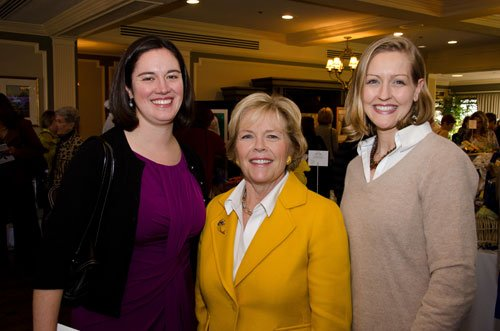 Mary Beth Wachter, center, with her daughters-in-law, Claire Wachter and Erin Wachter