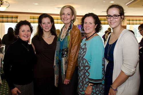 Jane Kelsey, Peggy Glass, Maureen Barber-Carey, Emily Ingram and her daughter, Kelsey