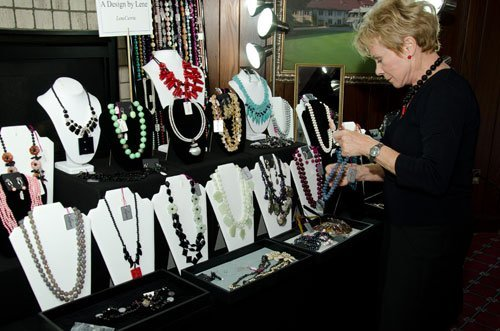 Lene Currie displays exquisite jewelry from A Design by Lene
