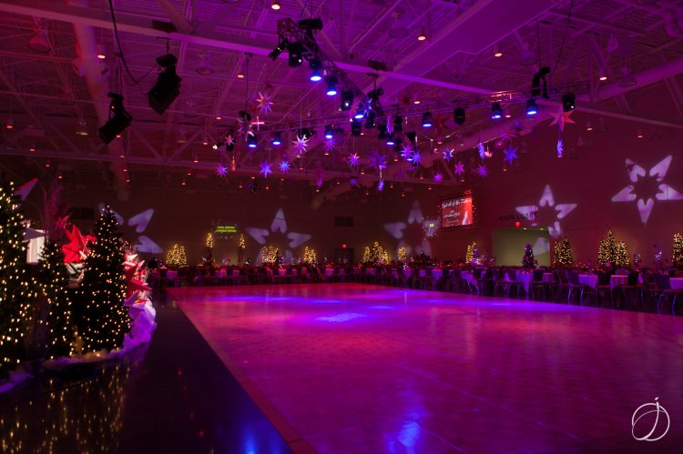 The Bayfront Convention Center was aglow for the occasion