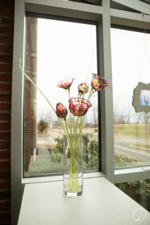 """Grande Glass Flower Bouquet,"" hand blown glass by Barbara Thomas Yerace"