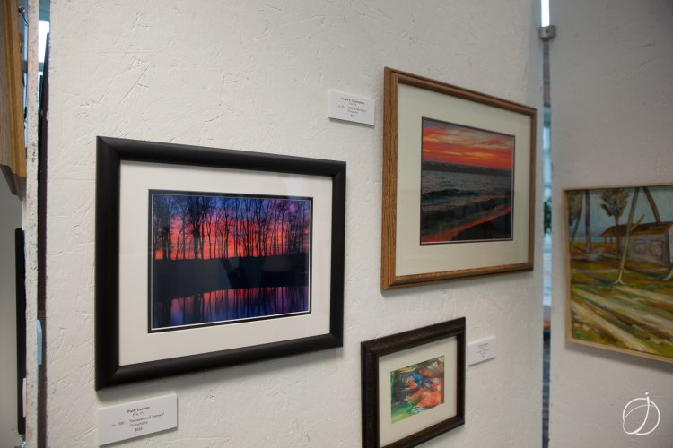 "At left, ""Sensational Sunset,"" a photo by Patti Larson"