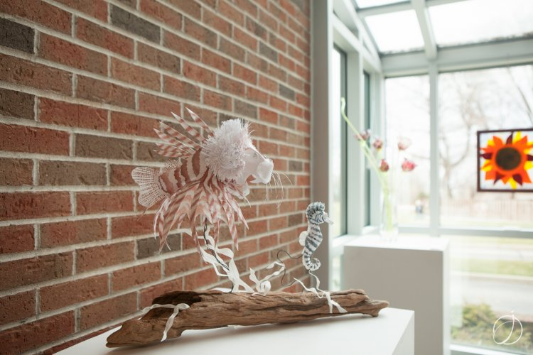 """Lionfish,"" a paper sculpture by Rebecca Merry"