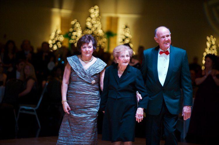 Marlene and Homer Mosco, co-chairs of the 2014 Ball, with Marlene's aunt, Lena DeLaura.