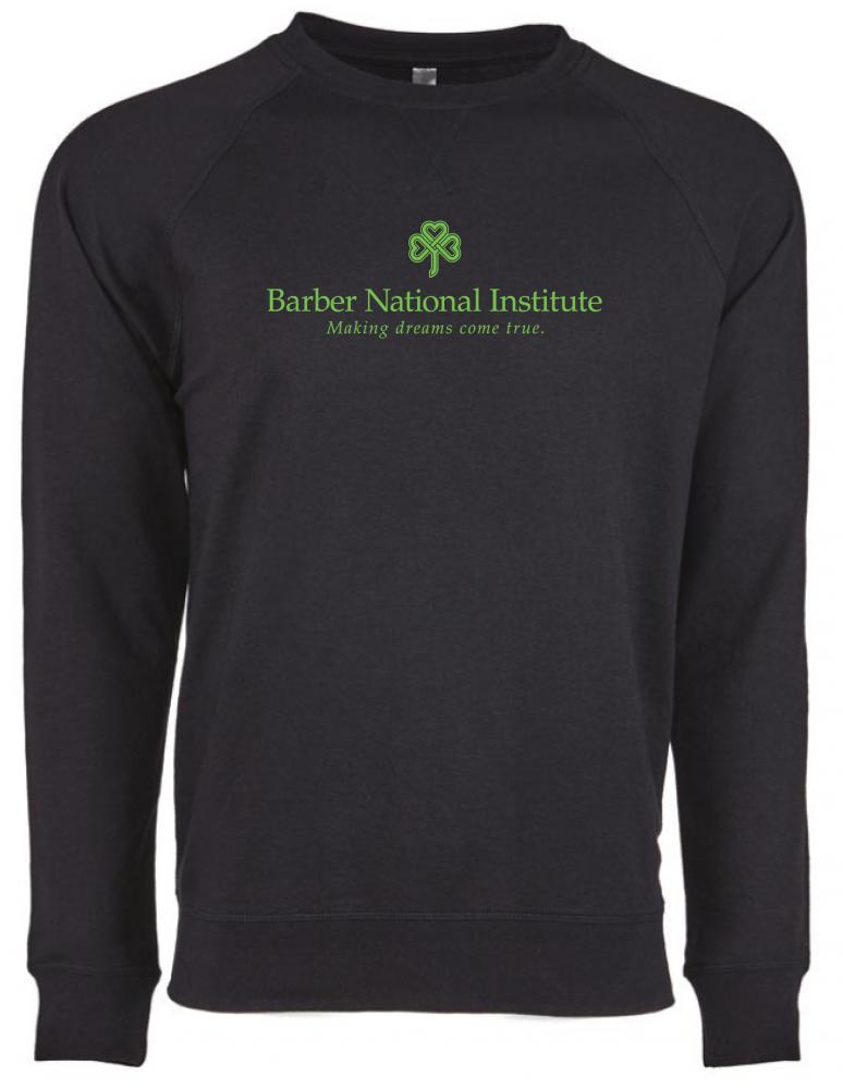 Barber National Institute Black Crew Neck Pullover