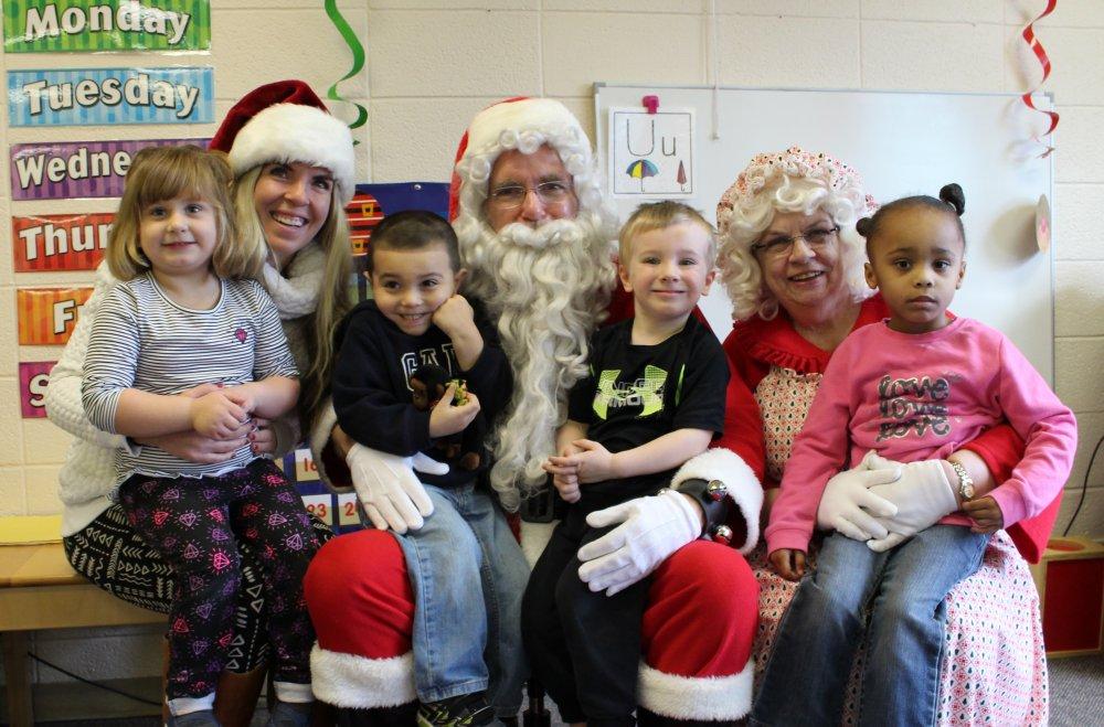 Santa and Mrs. Claus Visit ELBS