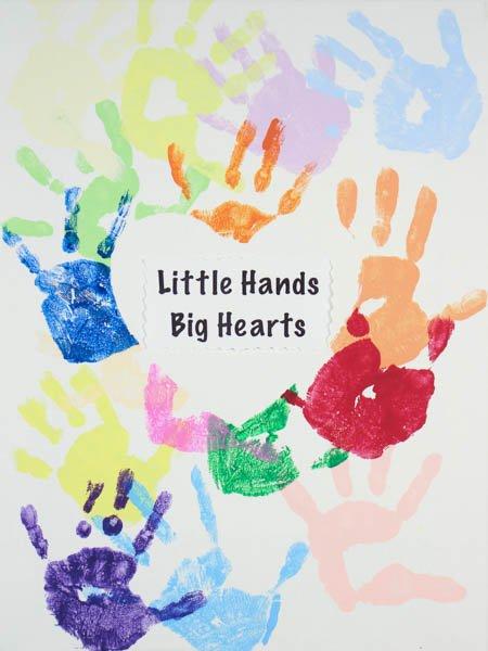 "28 ""Little Hands Big Hearts"" by South Hills Child Development Center Purple Room"
