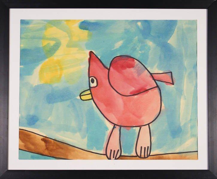 "47 ""American Robin Bird"" by Aiden Rainey"