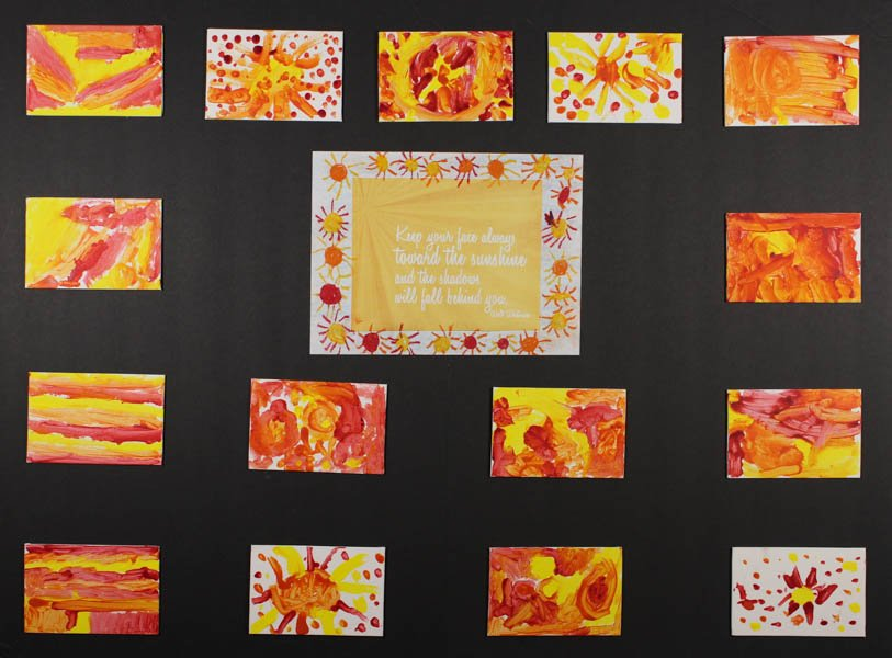 """29 """"Keep Your Face Toward the Sunshine"""" by South Hills Child Development Center Yellow Room"""