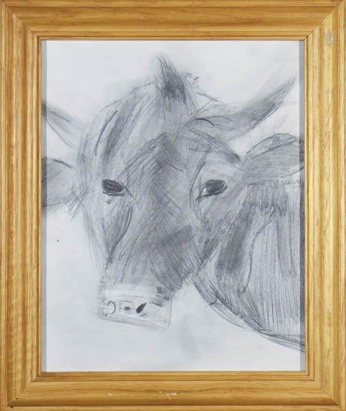 """143 """"The Focused Cow"""" by Ellie Wertz"""