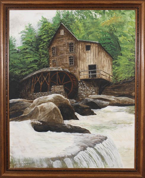 "345 Glade Creek Grist Mill"" by Kenneth C. Fairman"