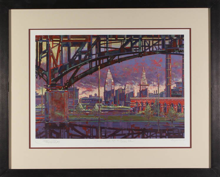"314 ""The Cleveland Skyline After a Storm"" by Francis Demaske"