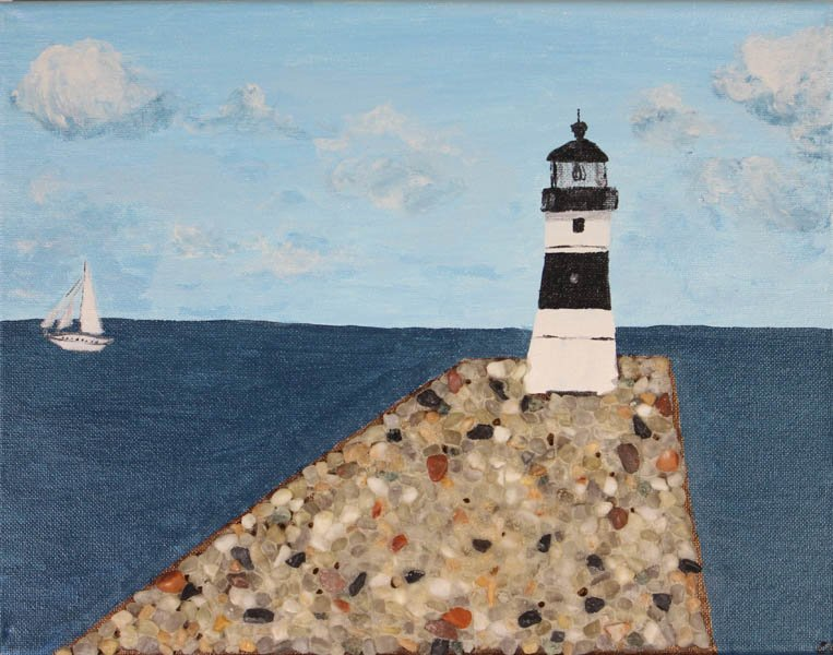 "441 ""Presque Isle Pierhead Lighthouse"" by Courtney Elliott"