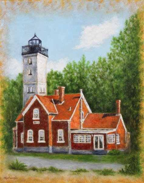 "551 ""Presque Isle Lighthouse"" by Olga Kurbanova"