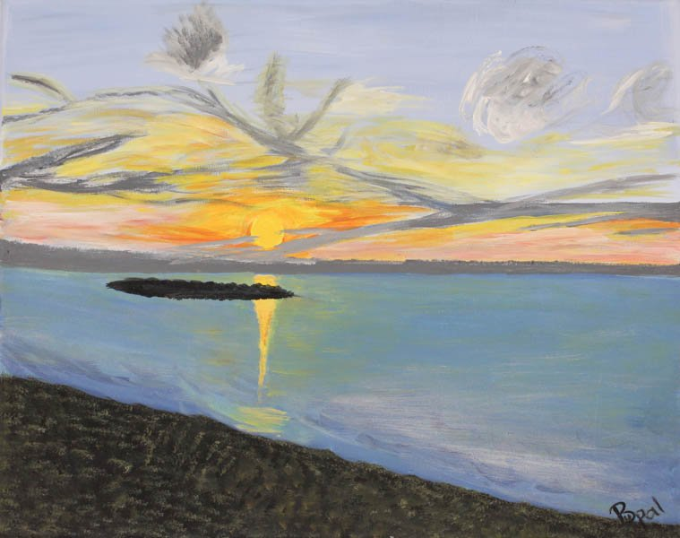 "588 ""Lake Erie Sunset"" by Bushra Upal"