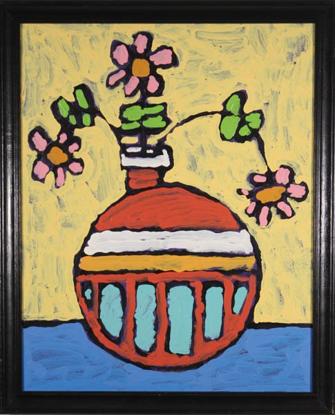 "610 ""Vase with Flowers"" by Tina Dinger"
