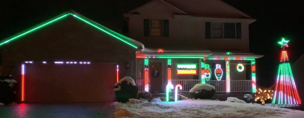 """Third place house display   """"Lights on Cherry Blossom"""" in Erie"""