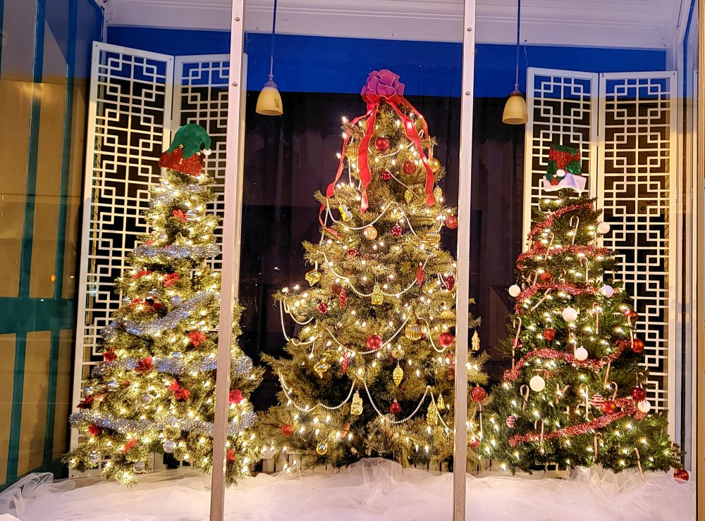 "First place business display | Erie Masonic Temple's ""Celebratng our 110th Christmas"""