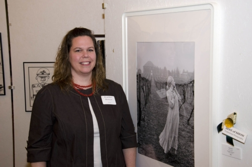 "Heather Mencer of North East with ""Untitled,"" her photo that won Best of Show in the Amateur Photography category."