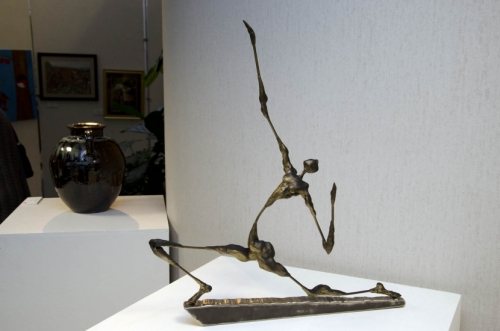 """Greaco,"" a wire sculpture by Steven Champion that won an honorable mention award."