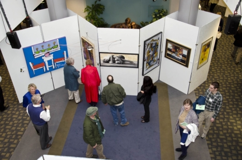 The Dr. & Mrs. Robert Guelcher 2013 Art Show featured more than 420 works of art.