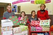 Students Prepare Boxes for Operation Christmas Child
