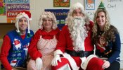 Santa and Mrs. Claus visit the Barber National Institute!