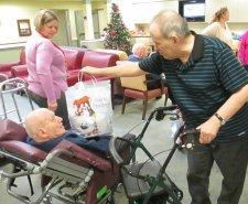 Seniors Present Gifts to Veterans