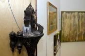 """Space Castle,"" a sculpture by Robert Harris."
